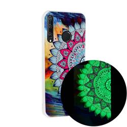 Colorful Sun Flower Noctilucent Soft TPU Back Cover for Huawei Y6p
