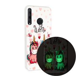 Couple Unicorn Noctilucent Soft TPU Back Cover for Huawei Y6p