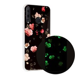 Rose Flower Noctilucent Soft TPU Back Cover for Huawei Y6p