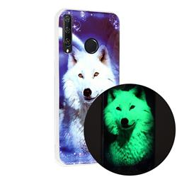 Galaxy Wolf Noctilucent Soft TPU Back Cover for Huawei Y6p
