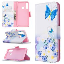 Butterflies Flowers Leather Wallet Case for Huawei Y6p