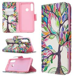 The Tree of Life Leather Wallet Case for Huawei Y6p