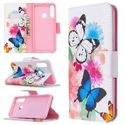 Vivid Flying Butterflies Leather Wallet Case for Huawei Y6p