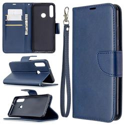 Classic Sheepskin PU Leather Phone Wallet Case for Huawei Y6p - Blue