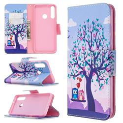 Peach Butterflies Leather Wallet Case for Huawei Y6p