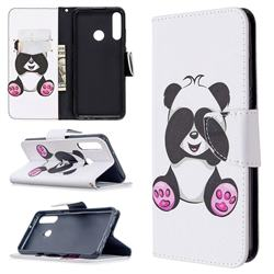 Lovely Panda Leather Wallet Case for Huawei Y6p