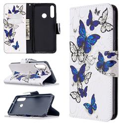 Flying Butterflies Leather Wallet Case for Huawei Y6p