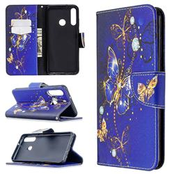 Purple Butterfly Leather Wallet Case for Huawei Y6p