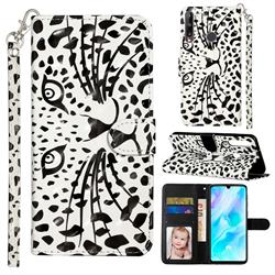 Leopard Panther 3D Leather Phone Holster Wallet Case for Huawei Y6p
