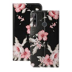 Azalea Flower PU Leather Wallet Case for Huawei Y6p