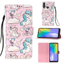 Angel Pony 3D Painted Leather Wallet Case for Huawei Y6p