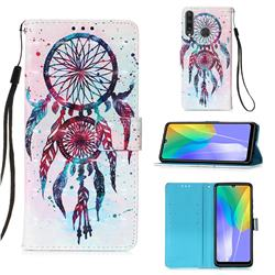 ColorDrops Wind Chimes 3D Painted Leather Wallet Case for Huawei Y6p