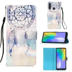 Fantasy Campanula 3D Painted Leather Wallet Case for Huawei Y6p