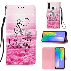 Beautiful 3D Painted Leather Wallet Case for Huawei Y6p