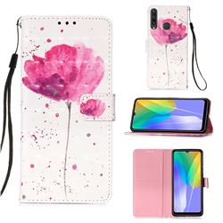 Watercolor 3D Painted Leather Wallet Case for Huawei Y6p