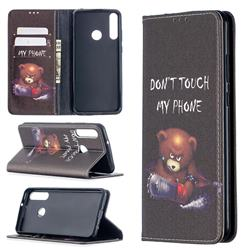 Chainsaw Bear Slim Magnetic Attraction Wallet Flip Cover for Huawei Y6p