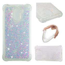 Dynamic Liquid Glitter Sand Quicksand Star TPU Case for Huawei Y7(2017) - Pink