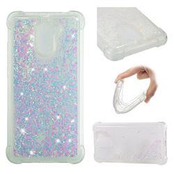 Dynamic Liquid Glitter Sand Quicksand Star TPU Case for Huawei Y7 - Pink