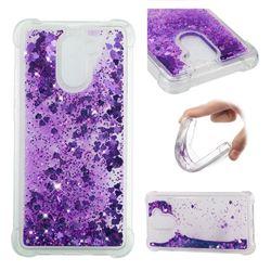 Dynamic Liquid Glitter Sand Quicksand Star TPU Case for Huawei Y7(2017) - Purple