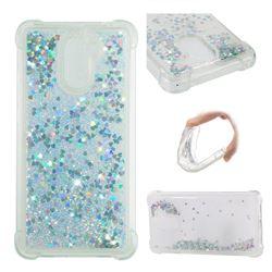 Dynamic Liquid Glitter Sand Quicksand Star TPU Case for Huawei Y7(2017) - Silver