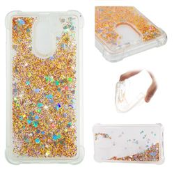 Dynamic Liquid Glitter Sand Quicksand Star TPU Case for Huawei Y7 - Diamond Gold