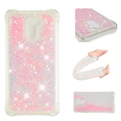 Dynamic Liquid Glitter Sand Quicksand TPU Case for Huawei Y7(2017) - Silver Powder Star