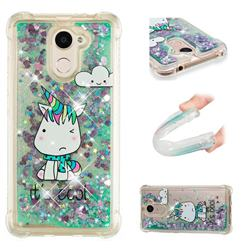 Tiny Unicorn Dynamic Liquid Glitter Sand Quicksand Star TPU Case for Huawei Y7(2017)