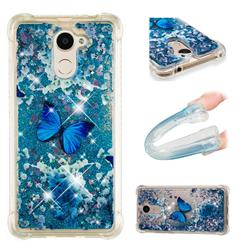 Flower Butterfly Dynamic Liquid Glitter Sand Quicksand Star TPU Case for Huawei Y7(2017)