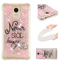 Never Stop Dreaming Dynamic Liquid Glitter Sand Quicksand Star TPU Case for Huawei Y7(2017)