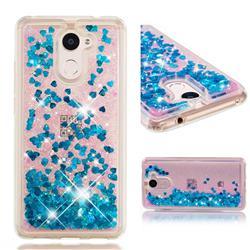 Dynamic Liquid Glitter Quicksand Sequins TPU Phone Case for Huawei Y7(2017) - Blue