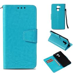 Retro Phantom Smooth PU Leather Wallet Holster Case for Huawei Y7(2017) - Sky Blue