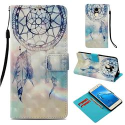 Fantasy Campanula 3D Painted Leather Wallet Case for Huawei Y7