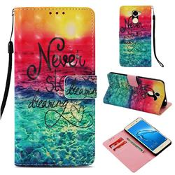Colorful Dream Catcher 3D Painted Leather Wallet Case for Huawei Y7
