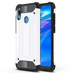 King Kong Armor Premium Shockproof Dual Layer Rugged Hard Cover for Huawei Y7(2019) / Y7 Prime(2019) / Y7 Pro(2019) - White