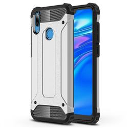 King Kong Armor Premium Shockproof Dual Layer Rugged Hard Cover for Huawei Y7(2019) / Y7 Prime(2019) / Y7 Pro(2019) - Technology Silver