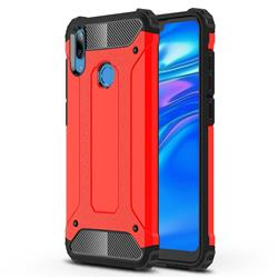 King Kong Armor Premium Shockproof Dual Layer Rugged Hard Cover for Huawei Y7(2019) / Y7 Prime(2019) / Y7 Pro(2019) - Big Red