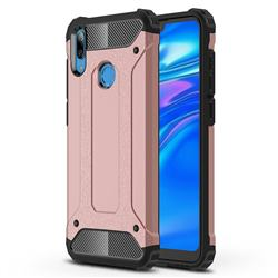 King Kong Armor Premium Shockproof Dual Layer Rugged Hard Cover for Huawei Y7(2019) / Y7 Prime(2019) / Y7 Pro(2019) - Rose Gold