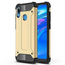 King Kong Armor Premium Shockproof Dual Layer Rugged Hard Cover for Huawei Y7(2019) / Y7 Prime(2019) / Y7 Pro(2019) - Champagne Gold