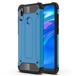 King Kong Armor Premium Shockproof Dual Layer Rugged Hard Cover for Huawei Y7(2019) / Y7 Prime(2019) / Y7 Pro(2019) - Sky Blue