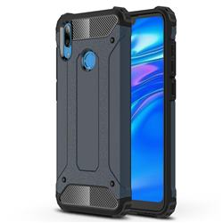 King Kong Armor Premium Shockproof Dual Layer Rugged Hard Cover for Huawei Y7(2019) / Y7 Prime(2019) / Y7 Pro(2019) - Navy