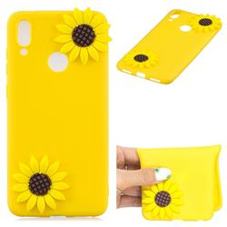 Yellow Sunflower Soft 3D Silicone Case for Huawei Y7(2019) / Y7 Prime(2019) / Y7 Pro(2019)