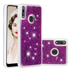 Dynamic Liquid Glitter Quicksand Sequins TPU Phone Case for Huawei Y7(2019) / Y7 Prime(2019) / Y7 Pro(2019) - Purple