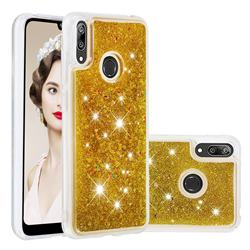 Dynamic Liquid Glitter Quicksand Sequins TPU Phone Case for Huawei Y7(2019) / Y7 Prime(2019) / Y7 Pro(2019) - Golden