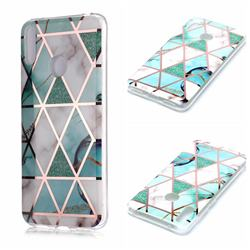 Green White Galvanized Rose Gold Marble Phone Back Cover for Huawei Y7(2019) / Y7 Prime(2019) / Y7 Pro(2019)