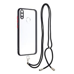 Necklace Cross-body Lanyard Strap Cord Phone Case Cover for Huawei Y7(2019) / Y7 Prime(2019) / Y7 Pro(2019) - Black