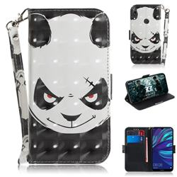 Angry Bear 3D Painted Leather Wallet Phone Case for Huawei Y7(2019) / Y7 Prime(2019) / Y7 Pro(2019)