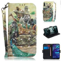 Beast Zoo 3D Painted Leather Wallet Phone Case for Huawei Y7(2019) / Y7 Prime(2019) / Y7 Pro(2019)