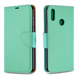 Classic Luxury Litchi Leather Phone Wallet Case for Huawei Y7(2019) / Y7 Prime(2019) / Y7 Pro(2019) - Green