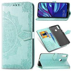 Embossing Imprint Mandala Flower Leather Wallet Case for Huawei Y7(2019) / Y7 Prime(2019) / Y7 Pro(2019) - Green