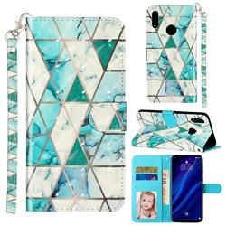 Stitching Marble 3D Leather Phone Holster Wallet Case for Huawei Y7(2019) / Y7 Prime(2019) / Y7 Pro(2019)